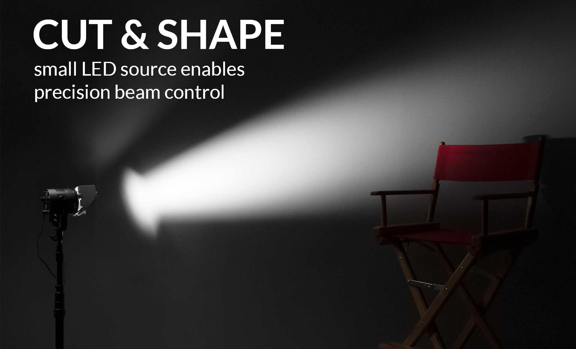 CUT & SHAPE - small LED source enables precision beam control